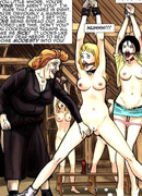 Very hot cartoon chicks get captured and brought to a villa where they get jeered, fucked and humiliated badly