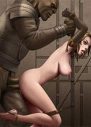 Knelt male slaves' tortures and humiliations