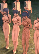 Four toon naked girls in shinju with marks of tortures suffering from bad treatment and orgies. female general part 1 by feather
