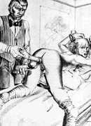 Very hot black and white drawings with dirty bdsm episodes